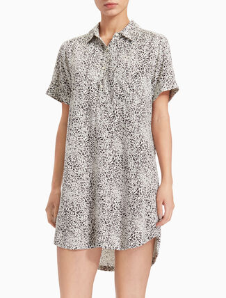 CALVIN KLEIN WOVEN VISCOSE NIGHT SHIRT