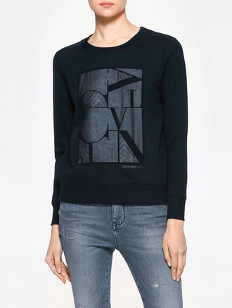 CALVIN KLEIN HONOR CHIFFON SWEATER