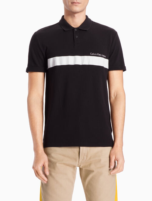 CALVIN KLEIN STRIPED POLO SHIRT IN SLIM FIT