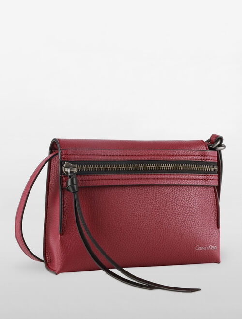 CALVIN KLEIN ULTRA LIGHT ZIP FRONT CROSSBODY BAG