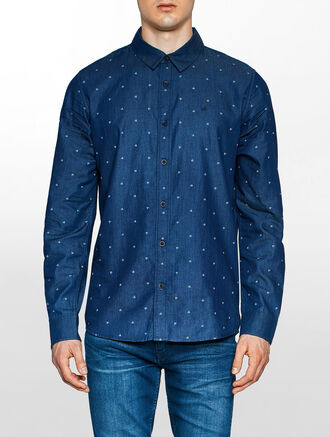 CALVIN KLEIN WEVAN LONG SLEEVES SHIRT