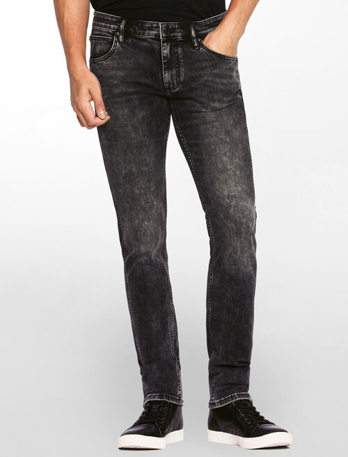 CALVIN KLEIN COAL BLACK SCULPTED SKINNY JEANS