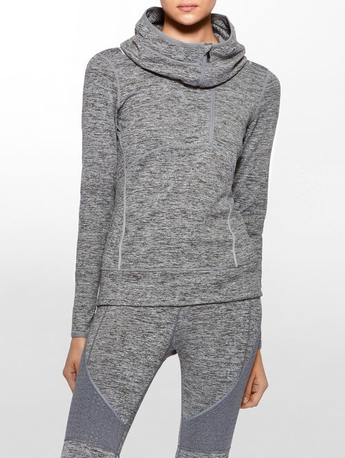 CALVIN KLEIN LONG SLEEVES ZIP HOOD PULLOVER