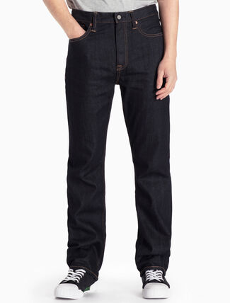 CALVIN KLEIN AKITA RINSE HIGH STRAIGHT JEANS IN SLIM FIT