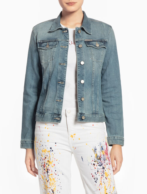 CALVIN KLEIN CLEAN DENIM TRUCKER JACKET