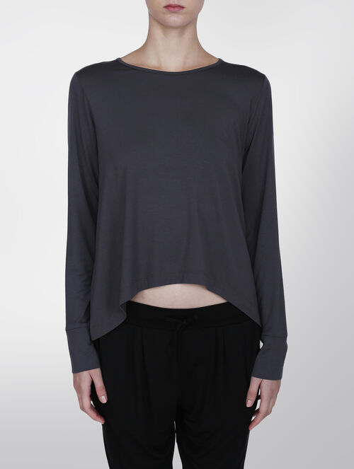 CALVIN KLEIN MODAL COORD TOP LONG SLEEVE PAJAMAS TOP