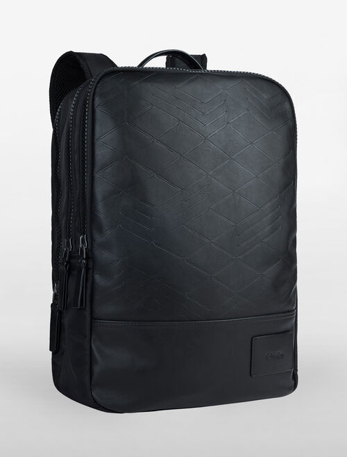 CALVIN KLEIN GEARED CITY GRID EMBOSS BACKPACK
