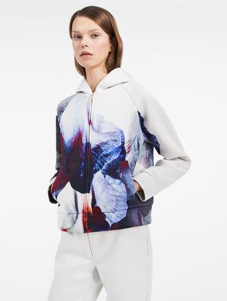 CALVIN KLEIN hyper floral hoodie