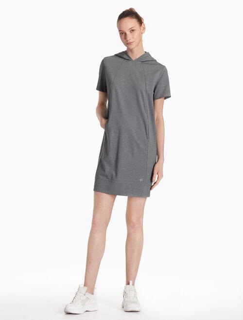 CALVIN KLEIN 후드 반소매 드레스