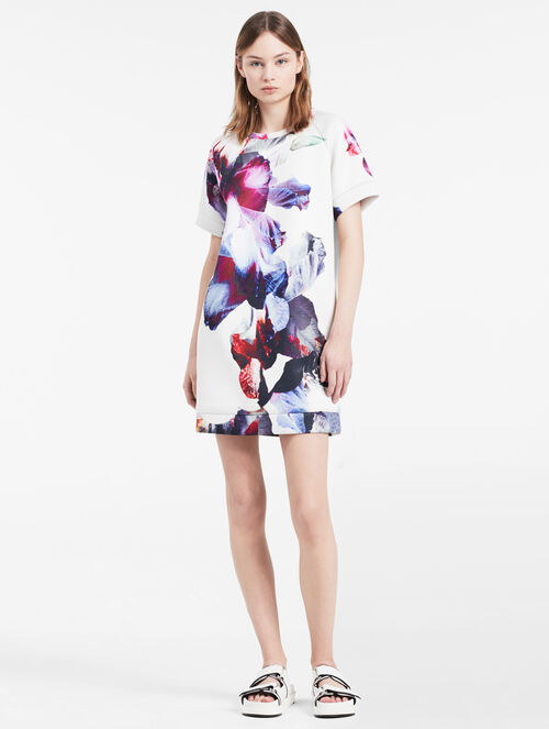 CALVIN KLEIN hyper floral dress
