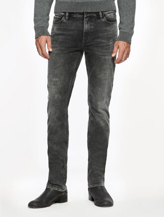CALVIN KLEIN CASTAWAY GREY WASH SLIM STRAIGHT JEANS