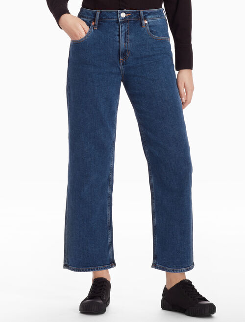 CALVIN KLEIN HIGH STRAIGHT FLARED JEANS