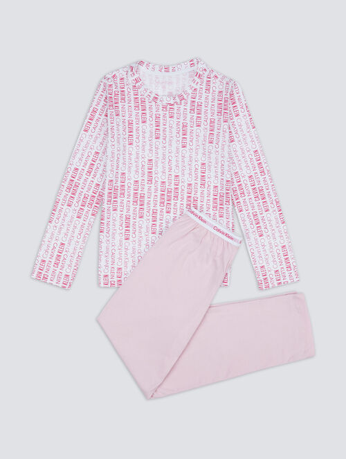 CALVIN KLEIN KIDS MODERN COTTON KNIT PAJAMA SET - GIRLS