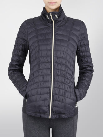 CALVIN KLEIN DOWN FILLED QUILTED JACKET WITH SMOCKED SIDES
