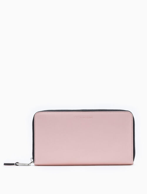CALVIN KLEIN CONTINENTAL ZIP-AROUND WALLET