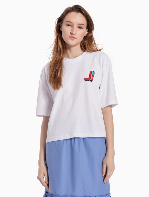 CALVIN KLEIN KNITTED APPLIQUE TEE