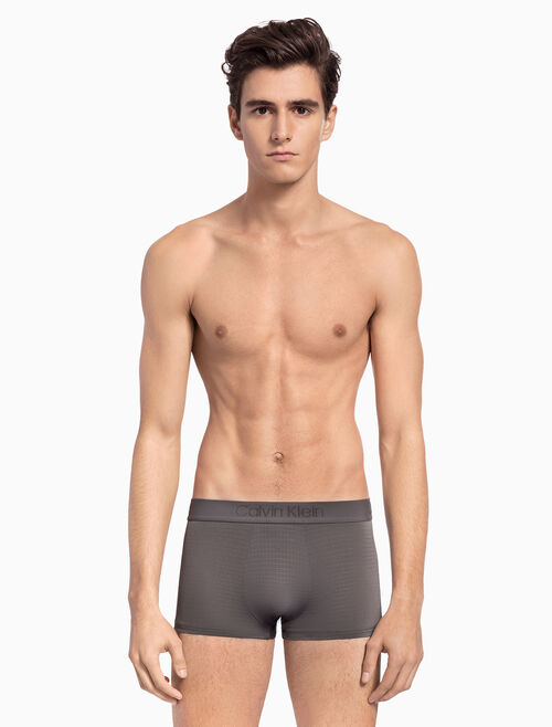 CALVIN KLEIN CK BLACK EMBOSSED LOW RISE TRUNK