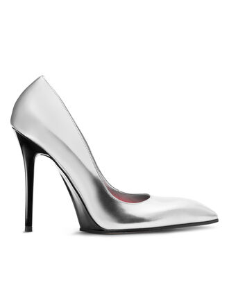 CALVIN KLEIN METALLIC CALF + SPECCHIO STILETTO