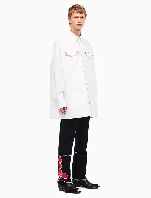 CALVIN KLEIN オーバーサイズ ポリスマンシャツ