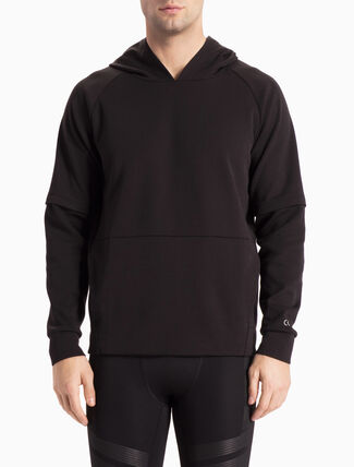 CALVIN KLEIN TECH SWEAT HOODED PULLOVER