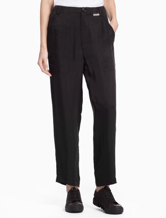 CALVIN KLEIN PINE CUPRO PANTS IN LOOSE FIT
