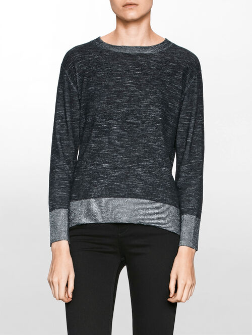 CALVIN KLEIN PLEATED PULLOVER