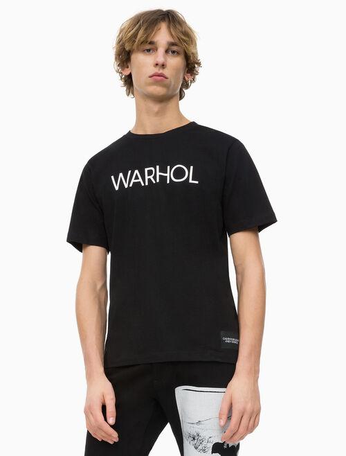 CALVIN KLEIN ANDY WARHOL LOGO 티셔츠