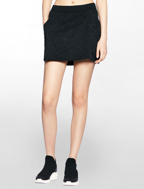 CALVIN KLEIN WOVEN SKIRT WITH INNER LINING SHORT