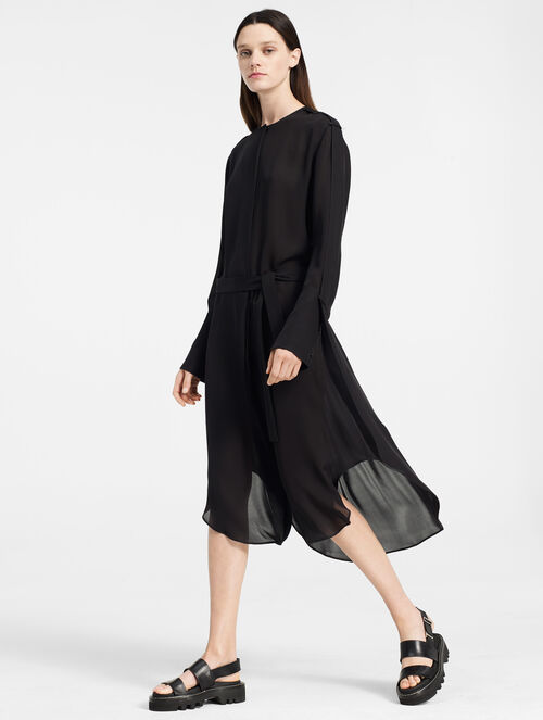 CALVIN KLEIN DOUBLE GEORGETTE SHIRT DRESS
