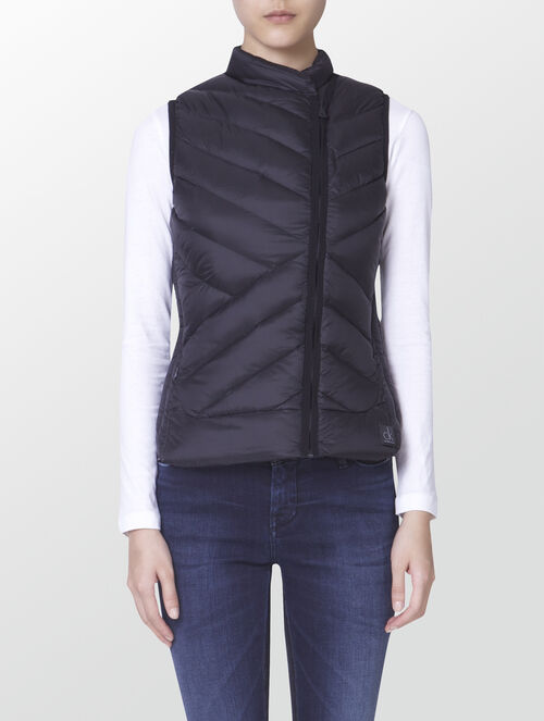 CALVIN KLEIN PACKABLE DOWN BIKER VEST