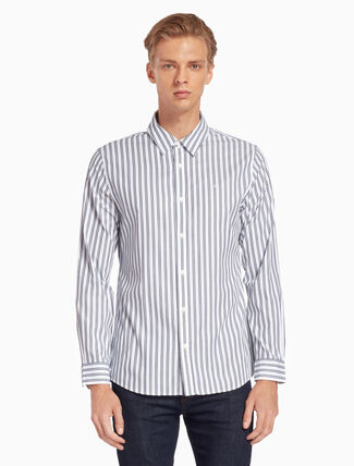 CALVIN KLEIN FINE STRIPED SHIRT