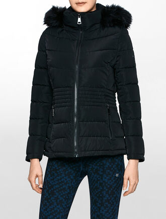 CALVIN KLEIN ZIP DOWN JACKET WITH HOOD