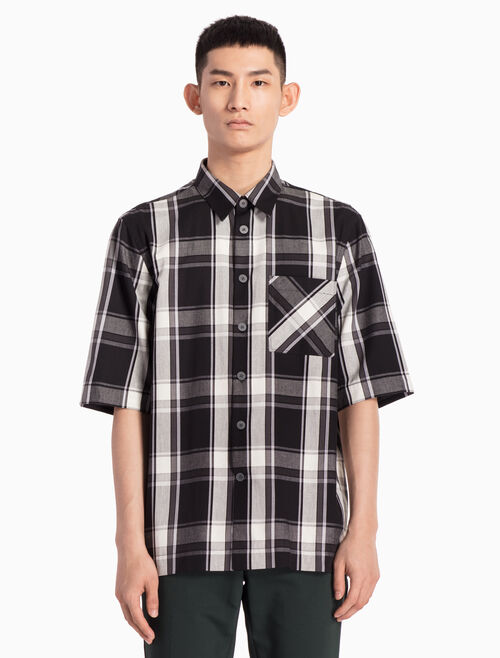 CALVIN KLEIN WOVEN CHECKED SHIRT