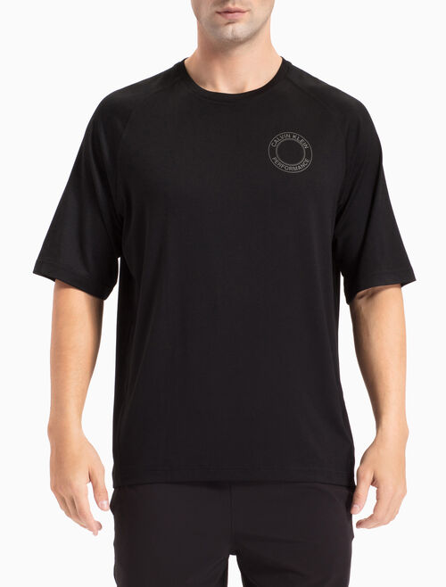CALVIN KLEIN COLLEGE LOGO TEE WITH MID-LENGTH RAGLAN SLEEVES