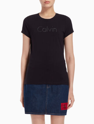 CALVIN KLEIN EMBOSSED ロゴ Tシャツ