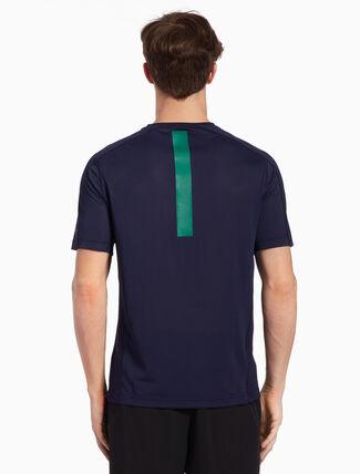 CALVIN KLEIN 메시 백 반소매 티셔츠