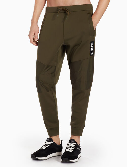 CALVIN KLEIN QUILTED SWEATPANTS