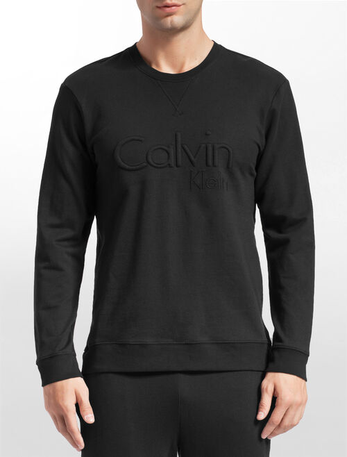 CALVIN KLEIN EMBROIDERED LOGO 스웨트셔츠