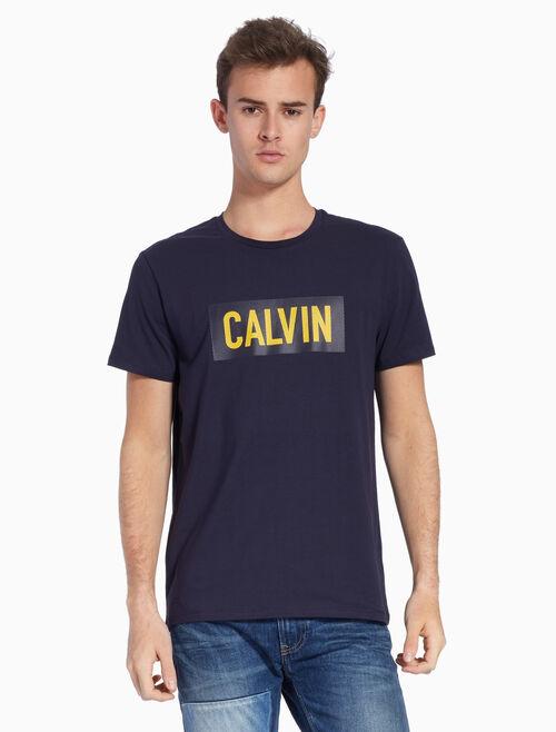 CALVIN KLEIN KNIT LOGO BOX TEE