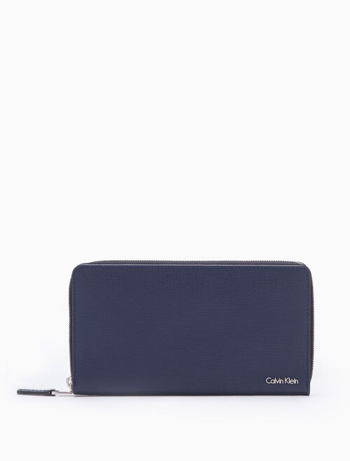 CALVIN KLEIN AIDEN TEXTURE SLIM TRAVEL WALLET