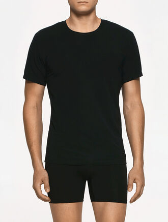 CALVIN KLEIN SHORT SLEEVES CREW NECK TOP