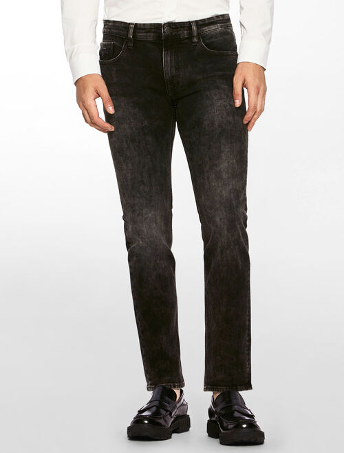 CALVIN KLEIN BLACK EYE WASH SKINNY JEANS