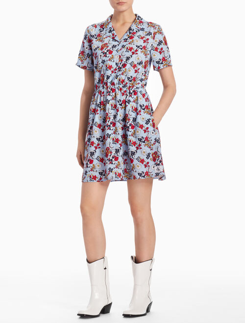 CALVIN KLEIN DANIELA SHORT-SLEEVE DRESS