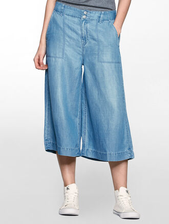 CALVIN KLEIN LYOCELL WIDE CULOTTES