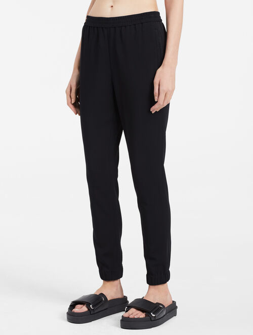 CALVIN KLEIN VISCOSE STRETCH ELASTICATED PANTS