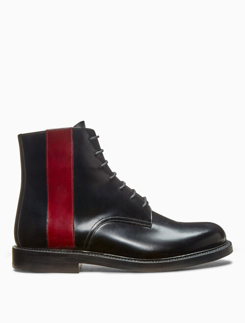 CALVIN KLEIN lace up boot in calf leather