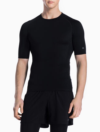 CALVIN KLEIN COMPRESSION SHORT-SLEEVE TEE