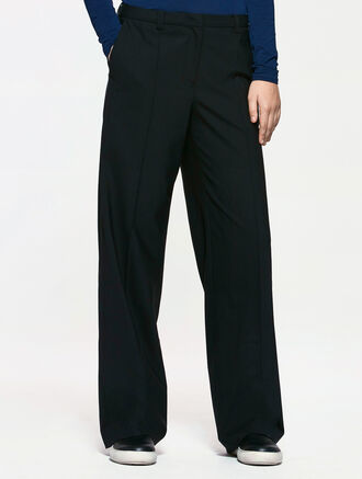 CALVIN KLEIN WOOL SILK WIDE PANTS