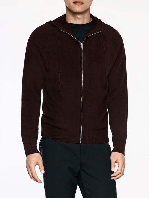 CALVIN KLEIN CASHMERE HOODED SWEATER
