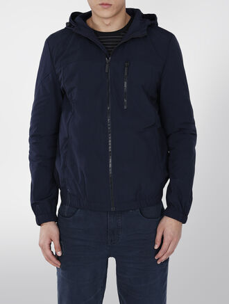CALVIN KLEIN HOODED LIGHT WEIGHT NYLON JACKET